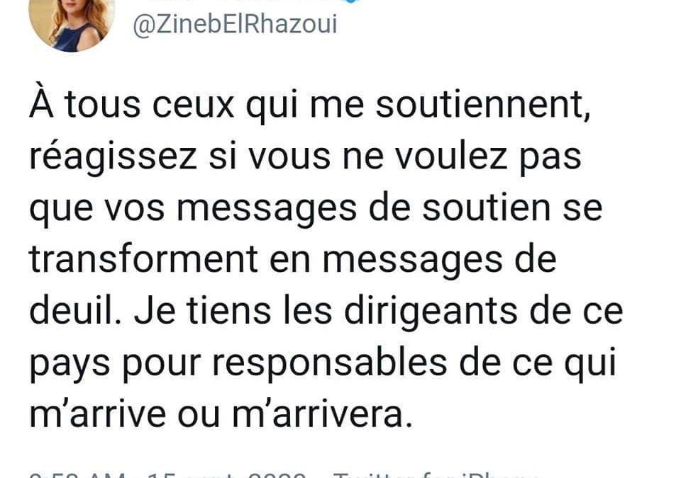 Il faut soutenir Zineb El Rhazoui !